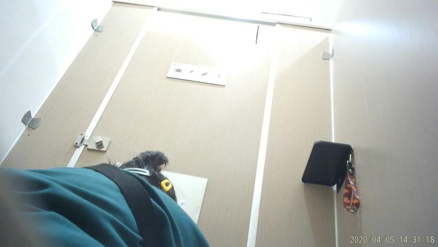 最新商城厕所双镜头TP超级漂亮的大眼学生妹嘘嘘